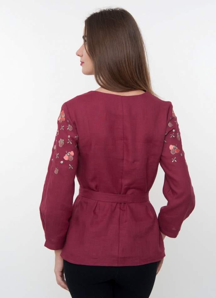Вишита блузка з квітами (вишиванка) арт. 4190