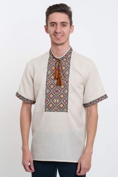 Украинская вышиванка серая, арт. 4207к.р.