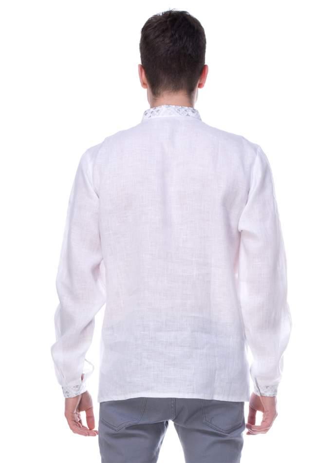 Мужская рубашка вышитая, арт. 4210-лён