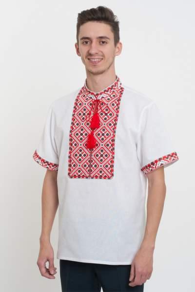 Мужская рубашка вышитая гладью, арт. 4216к.р.