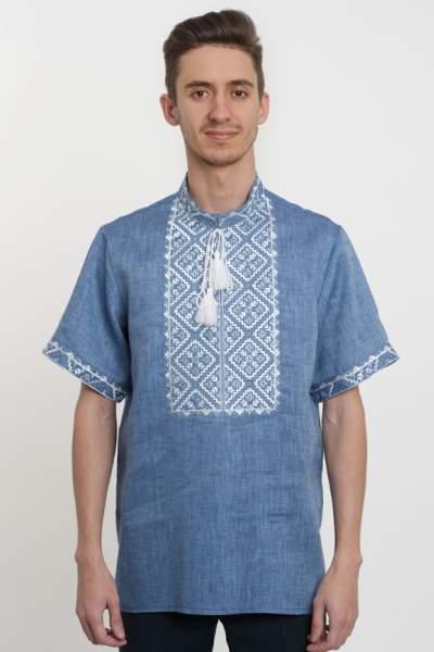 Лляна чоловіча сорочка вишита, арт. 4219к.р.