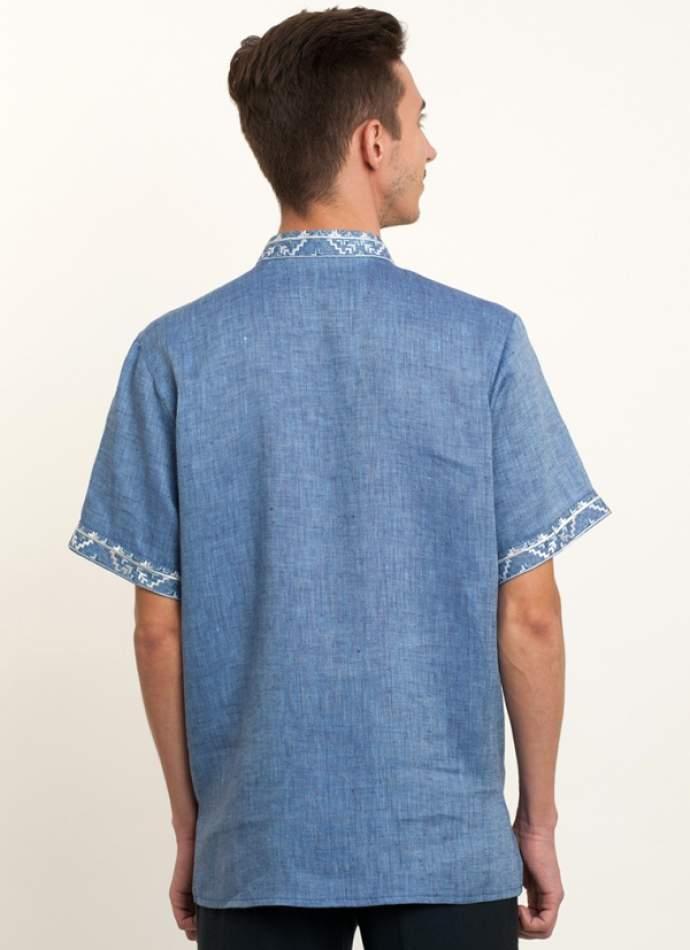 Льняная мужская рубашка вышитая, арт. 4219к.р.