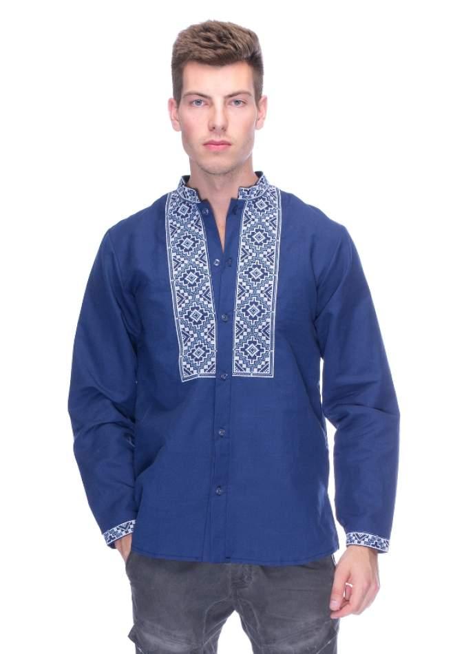 Сорочка з вишивкою чоловіча синя, арт. 4220