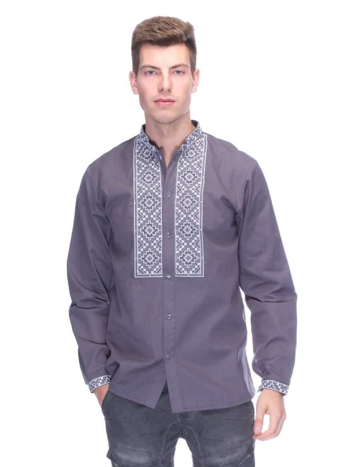 Вишита сорочка чоловіча сіра, арт. 4221