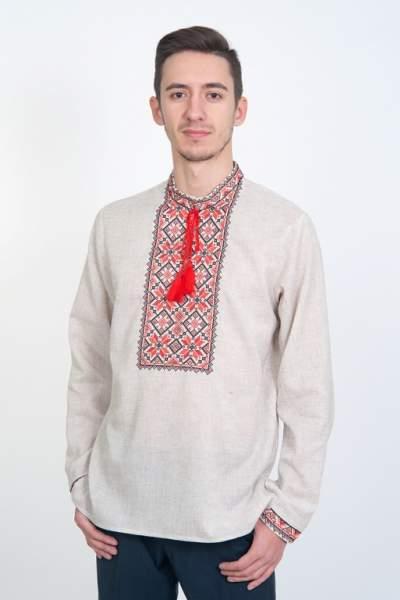 Мужская вышиванка серая, арт. 4224-с