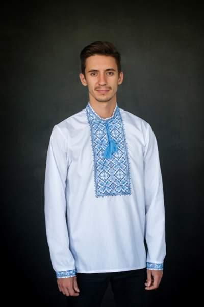 Рубашка-вышиванка мужская батист, арт. 4225