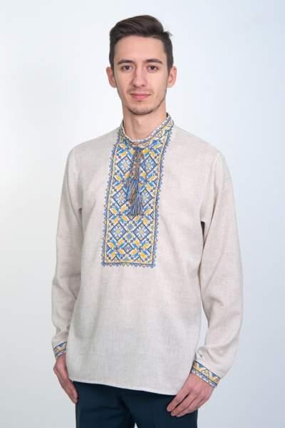Украинская вышиванка мужская, арт. 4226сіра