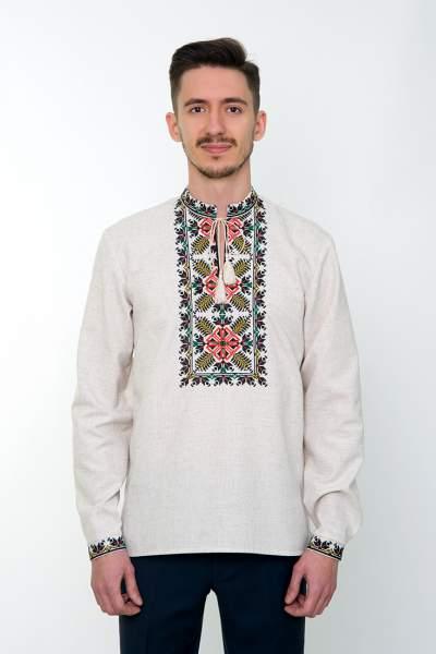 Сіра вишита сорочка чоловіча, арт. 4232 Яромир