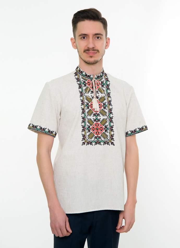 Сіра вишита сорочка чоловіча, арт. 4232к.р. Яромир