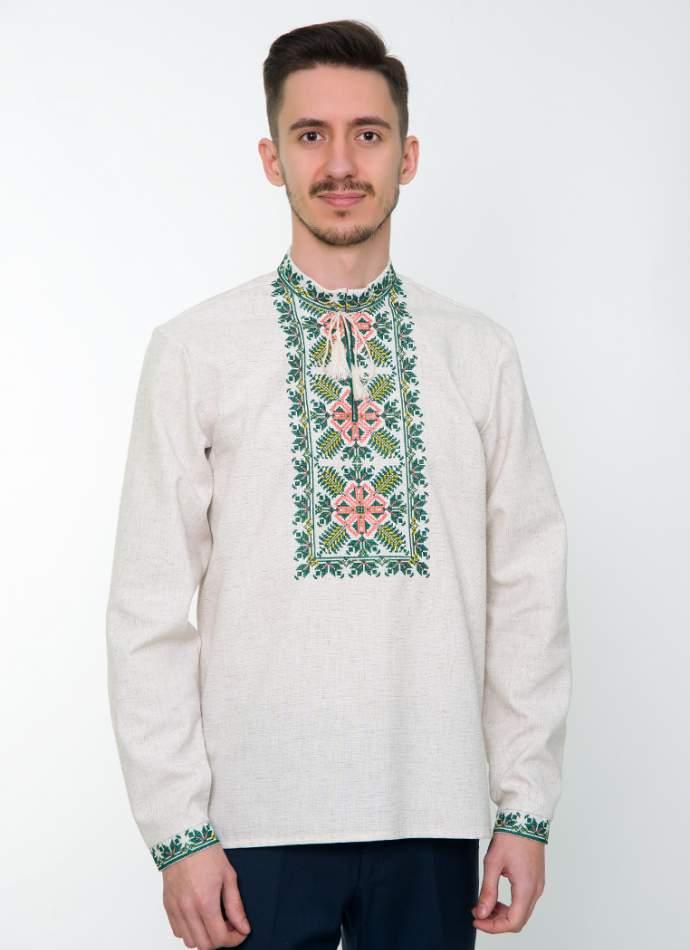 Сіра вишита сорочка чоловіча, арт. 4233 Яромир