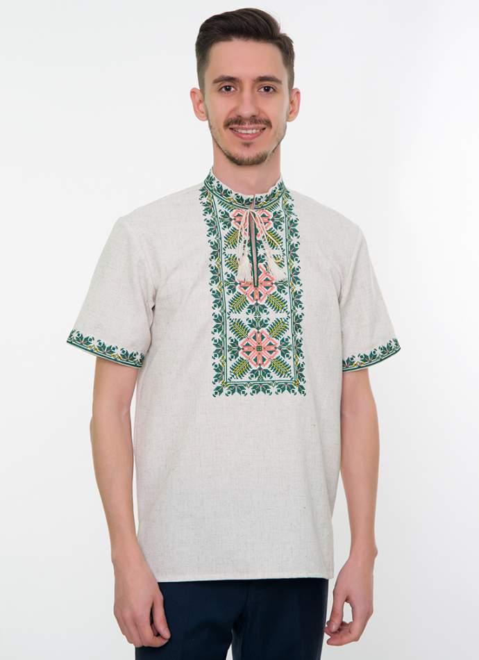 Сіра вишита сорочка чоловіча, арт. 4233к.р. Яромир