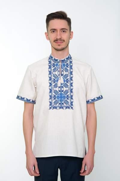 Серая вышитая рубашка мужская, арт. 4234к.р. Яромир