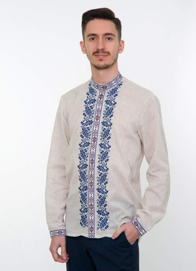 Сіра вишита сорочка чоловіча, арт. 4236 Дубомир