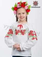 """Детская вышиванка на девочку """"маки"""", арт. 4301"""