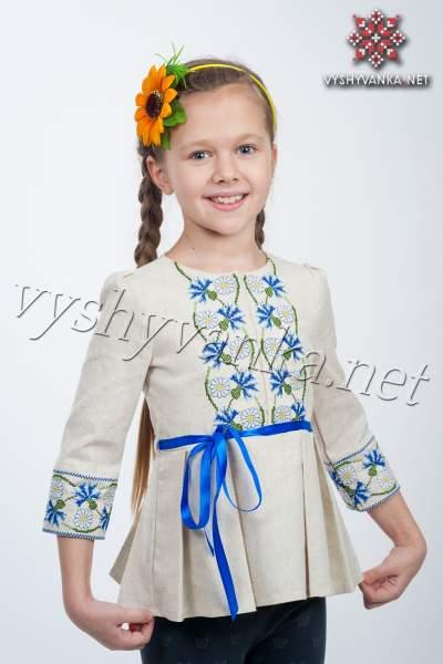 Вышиванка платье туника для девочки, арт. 4309, разм. 110, 146