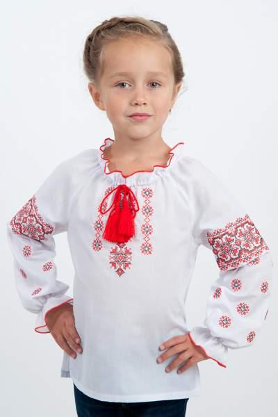 """Вишиванка для дівчинки """"чорно-червоний орнамент"""", арт. 4316"""