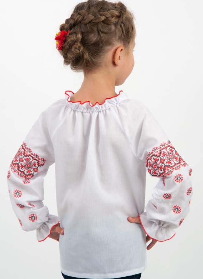 """Вышиванка для девочки """"черно-красный орнамент"""", арт. 4316"""
