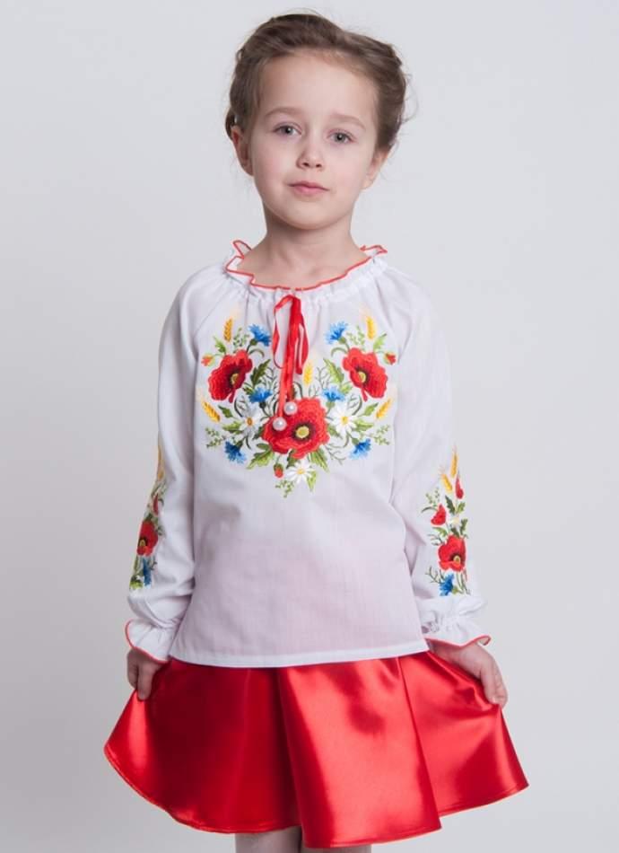 """Вишиванка для дівчинки """"маки"""", арт. 4318"""