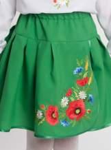 Дитяча спідниця з габардину з вишивкою, арт. 4319