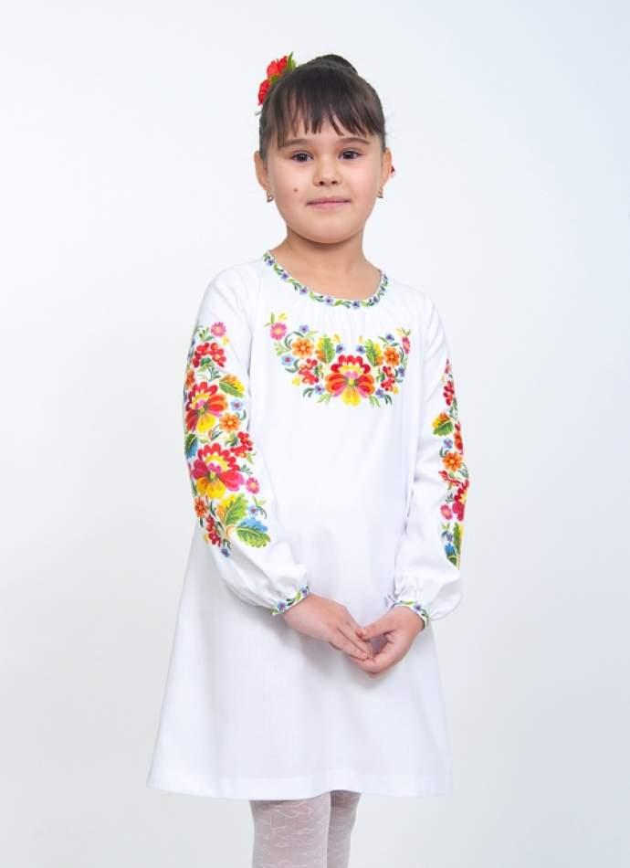 """Сукня вишиванка на дівчинку """"петриківський розпис"""", арт. 4327"""