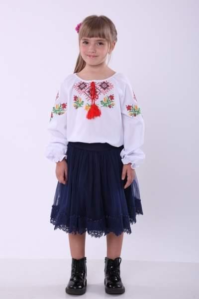 """Вишиванка для дівчинки """"ромби"""", арт. 4337"""