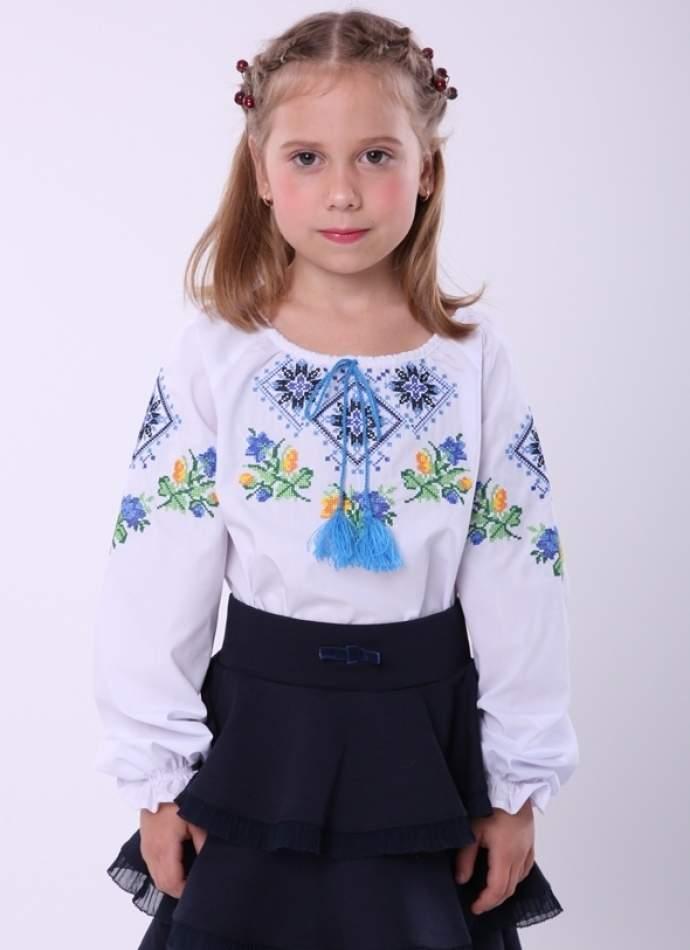 """Вышиванка для девочки """"ромбы"""", арт. 4339"""