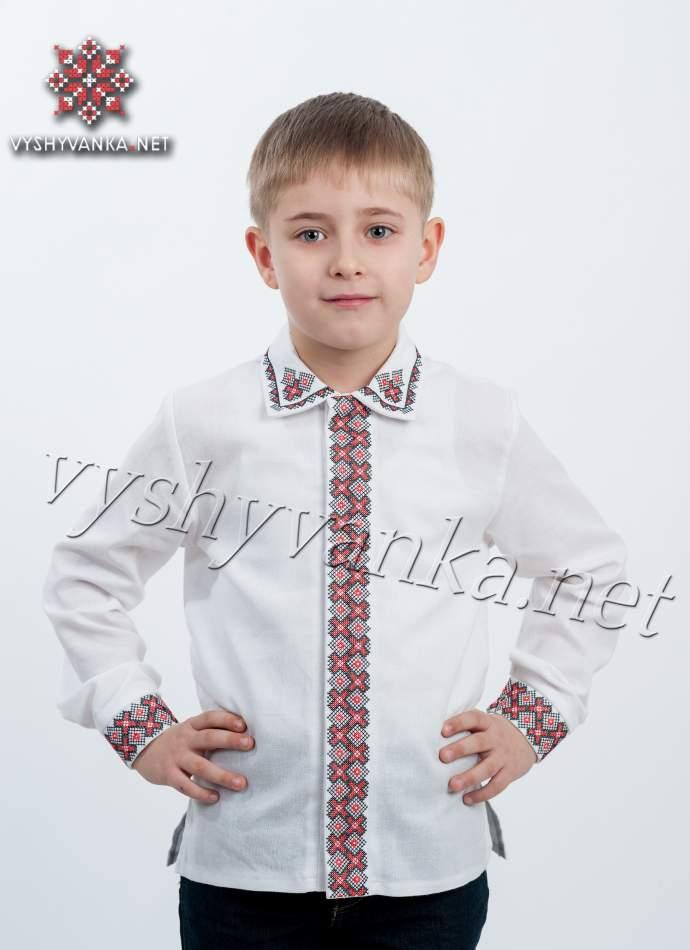 Вишита сорочка для хлопчика з відкладним коміром, арт. 4406
