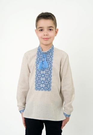 Вышиванка детская для мальчика, арт. 4411сіра