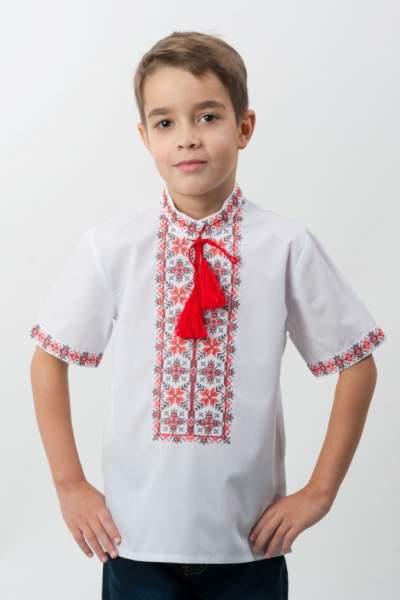 Детская вышиванка с коротким рукавом, арт. 4412к.р.