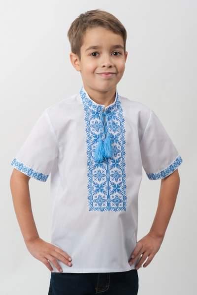 Детская вышиванка с коротким рукавом на мальчика, арт. 4413к.р.