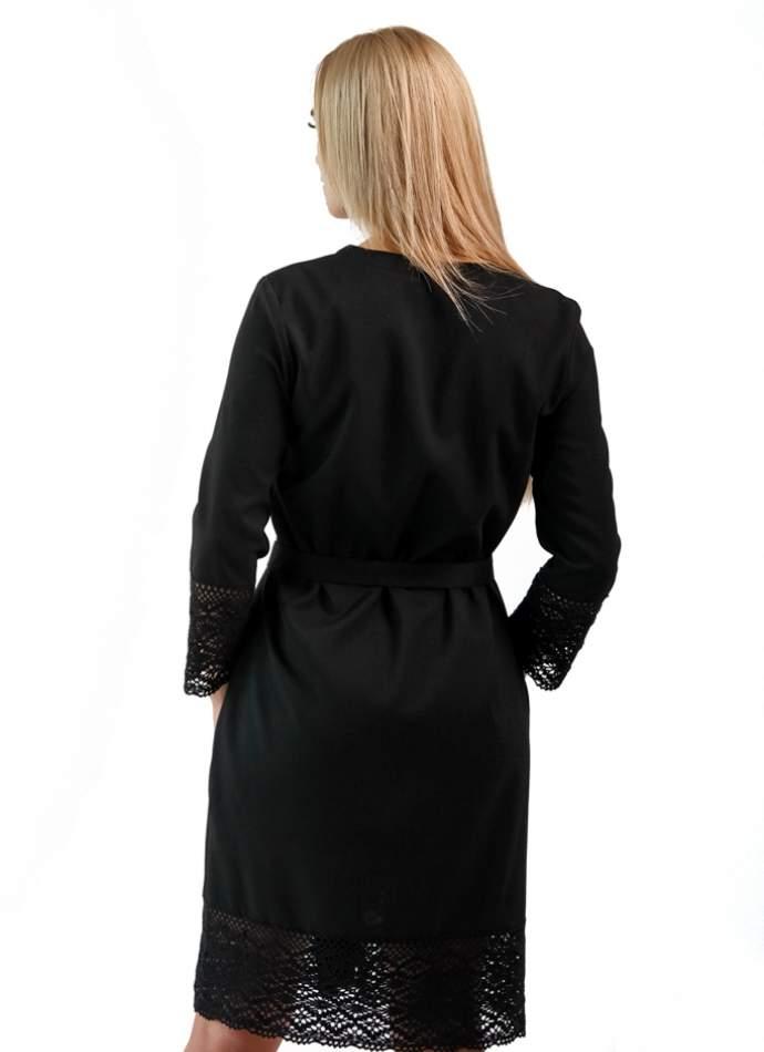 Чорна сукня-сорочка з мереживом (троянди), арт. 4520р.3/4