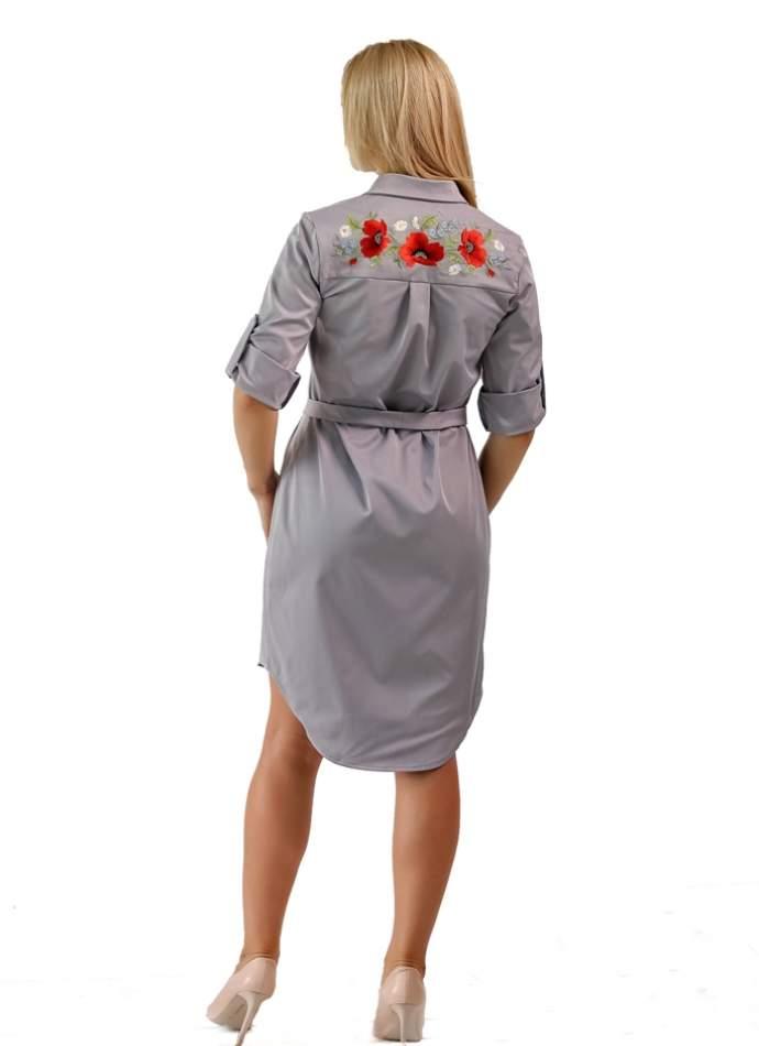 Жіноче плаття сорочка (маки), арт. 4524