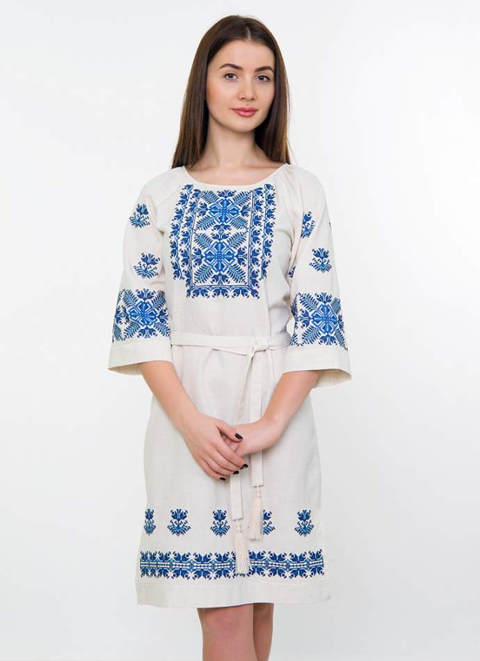 Сукня з абстрактною вишивкою, арт. 4539