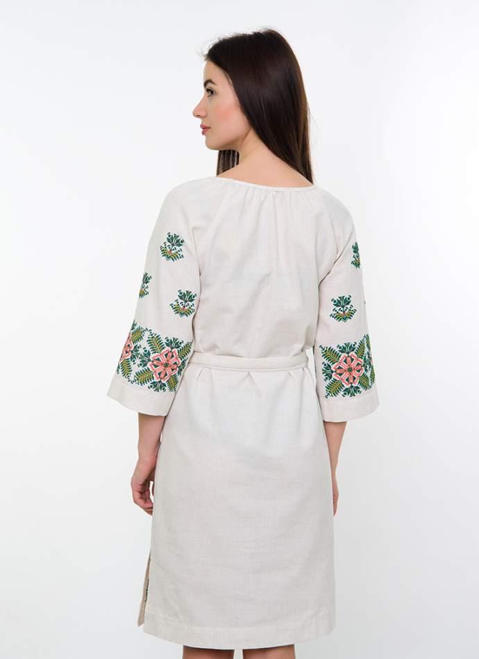 Сукня з машинною вишивкою, арт. 4540