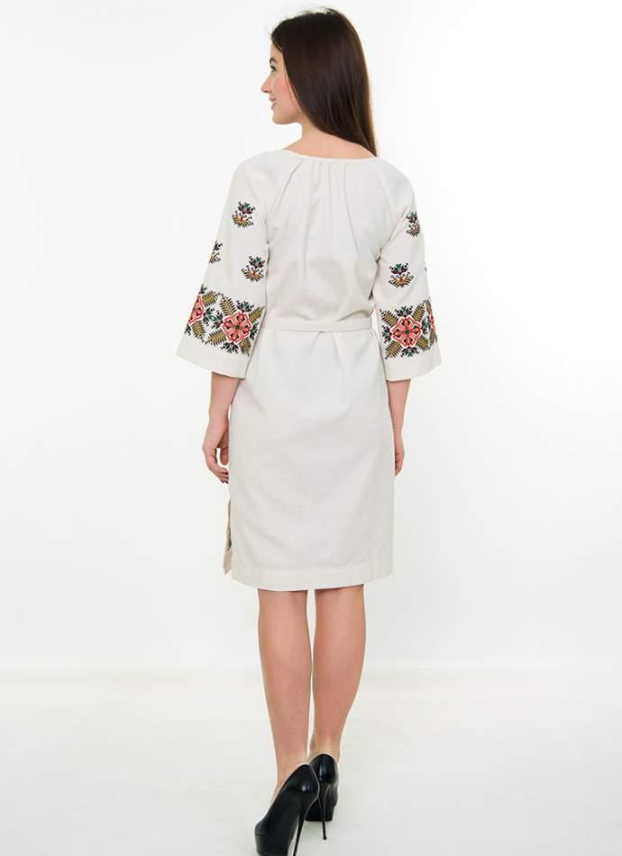 Сукня з машинною вишивкою, арт. 4541