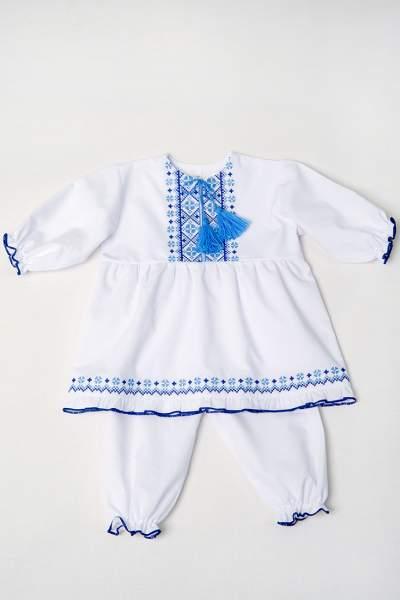 Набір для хрещення дівчинці синій