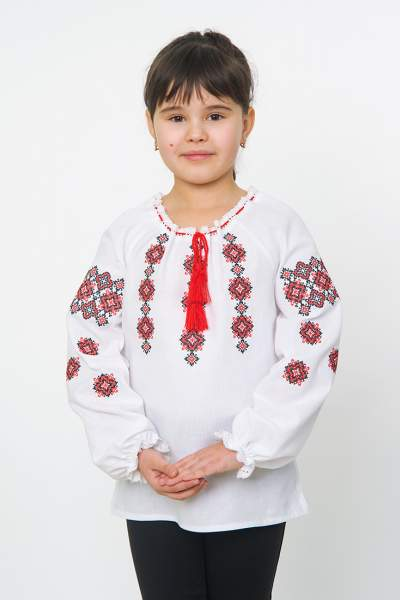 Вышиванка на девочку (геометрический орнамент), арт. 4329