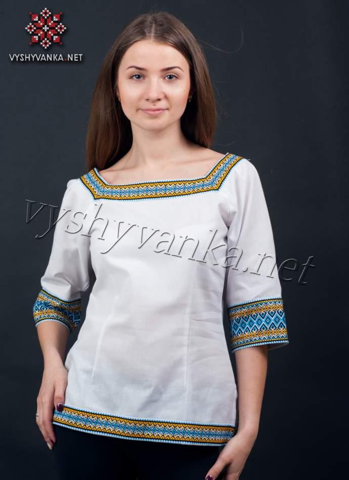 Жіноча блузка з нашивками, арт. 0044