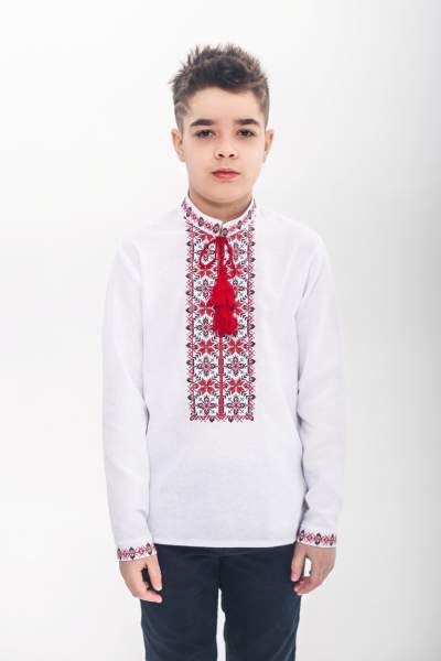 Вишита хрестиком сорочка для хлопчика, арт. 0108