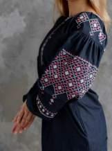 Дизайнерська вишита сукня (плаття) на бавовні, арт. 4145