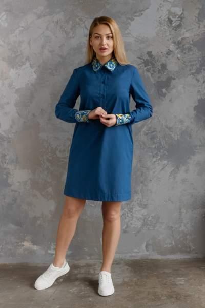 Сукня жіноча з вишитим комірцем, арт. 4551