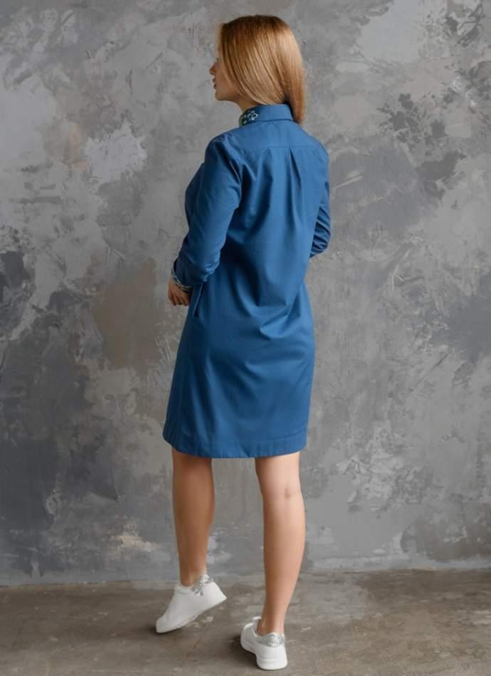 Платье с вышитым воротником, арт. 4551