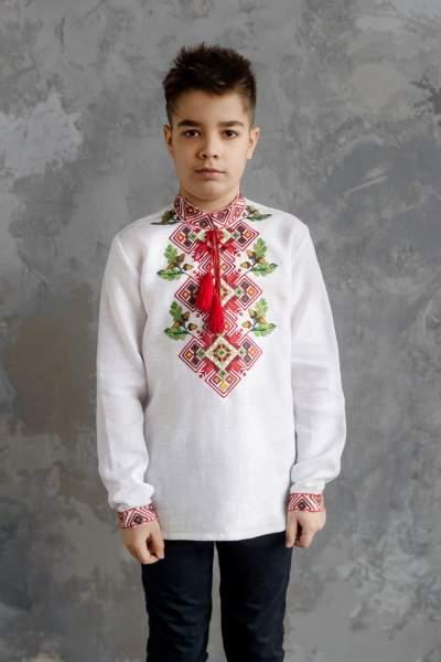 Сорочка на хлопчика, арт. 4436 льон