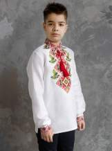 Рубашка на мальчика, арт. 4436-лён