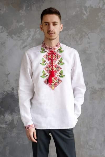 Мужская рубашка вышитая, арт. 4246-хлопок