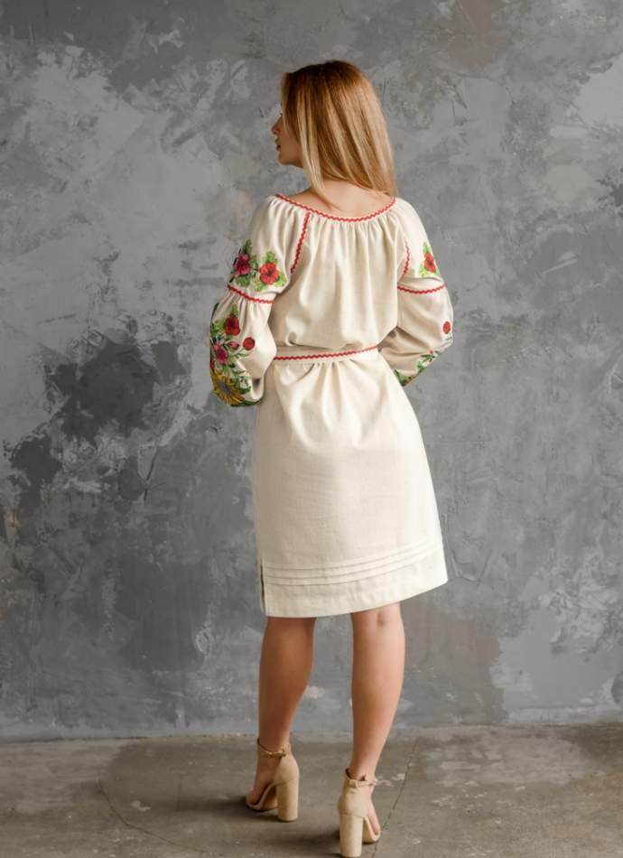 Плаття з вишивкою (Соняхи), арт. 4556сіре