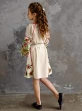 """Сіре дитяче плаття-вишиванка """"соняшники"""", арт. 4345"""