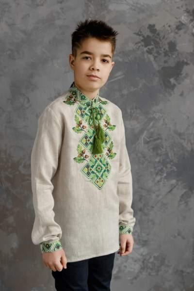 Рубашка на мальчика, арт. 4435-лён