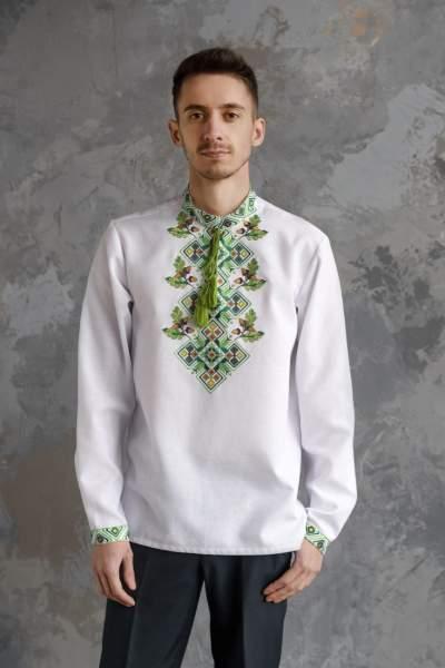 Мужская рубашка вышитая, арт. 4245-хлопок