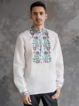 Мужская рубашка вышитая, арт. 4244-лён